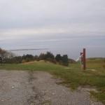 Toppen af Ballebjerg - Tunø i horisonten.