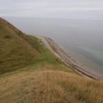 Sidste lille bakke hvor alle følges - ½ marathon holder til venstre i bunden og resten fortsætter langs stranden.